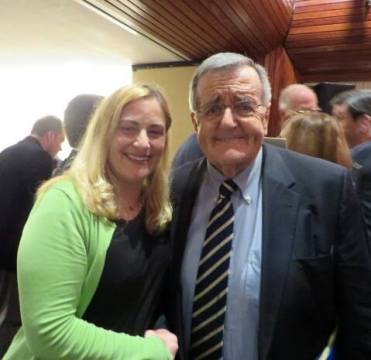 Marisa with Mark Shields